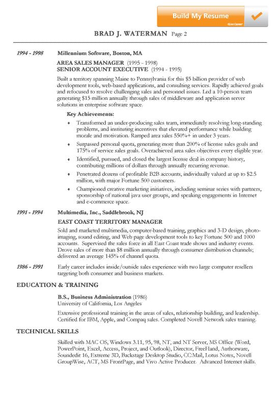 examples of non chronological resumes