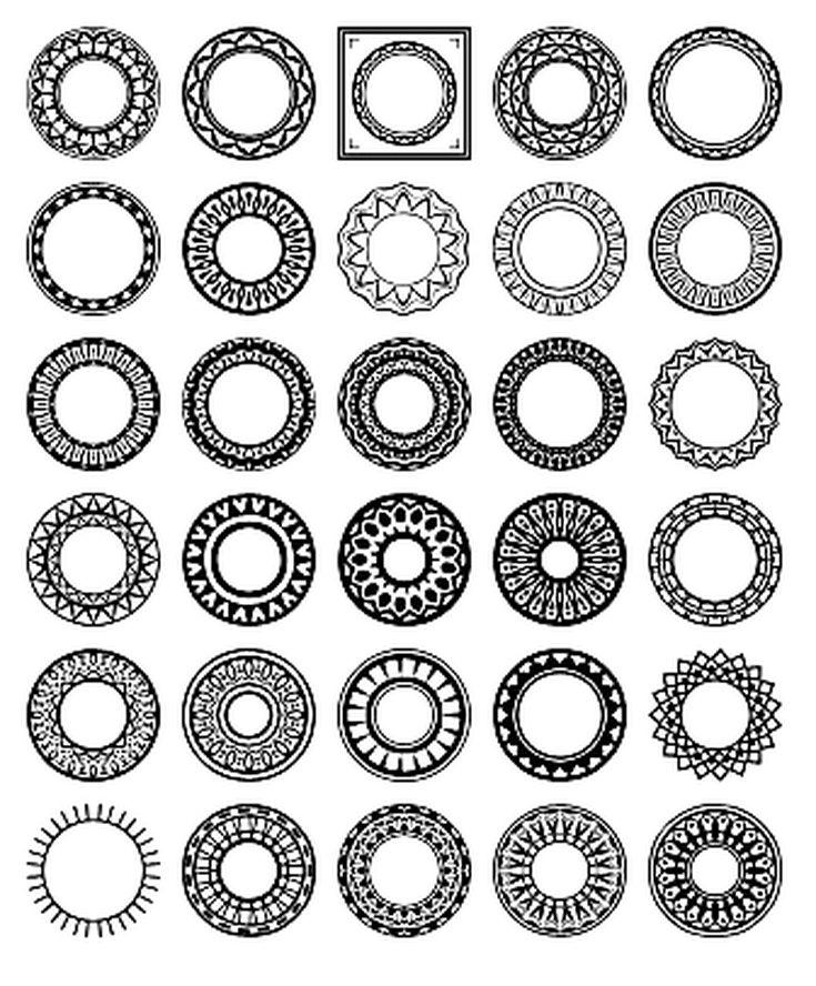 Free Circular Border Shapes for Photoshop and Elements: Circular Design Custom Shape Set 2