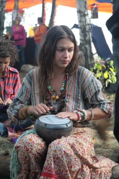 Learn to play the drums, any kind. I want to be involved in a drum gathering, bring people together.