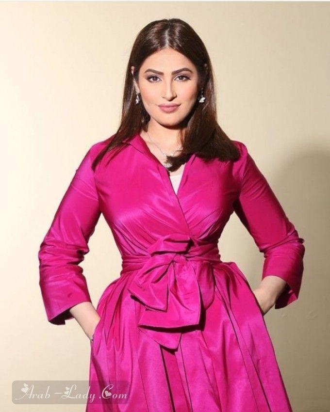 شاهدي رؤى الصبان في إطلالات محتشمة وأنيقة مجلة المرأة العربية Fashion Wrap Dress Dresses