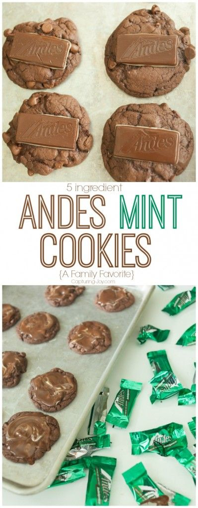 5-Ingredient Chocolate Andes Mint Cookies from Capturing Joy with Kristen Duke