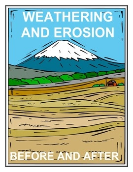 Worksheet Weathering And Erosion Worksheets For Kids 1000 images about science erosion and natural disasters on this worksheet includes 10 hand drawn pictures that depict the before after stages of weathering is a beneficial