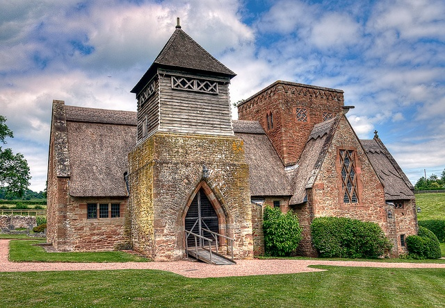Thatched Church. All Saints Church Brockhampton, Herefordshire, England.   by Kulu40, via Flickr