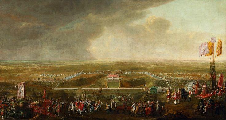 Manoeuvres of Polish, Lithuanian and Saxon Army on Czerniaków by Johann Samuel Mock, 1732 (PD-art/old), Zamek Królewski w Warszawie (ZKW)