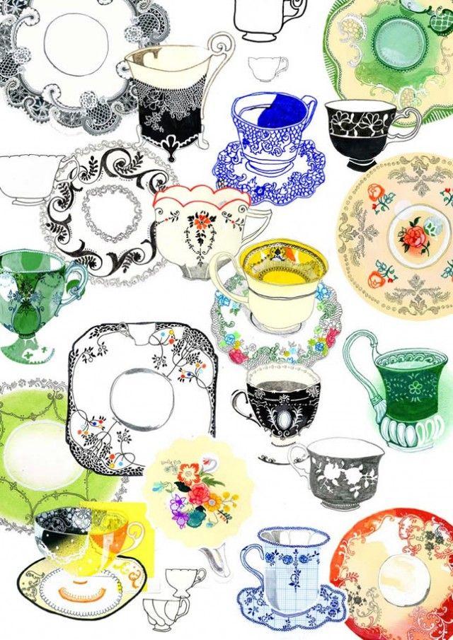 swoon-worthy tea cups by Hennie Haworth
