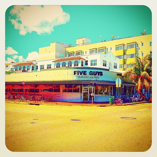 MIAMI SOUTH BEACH FIVE GUYS best burger - @balazsroth- #webstagram