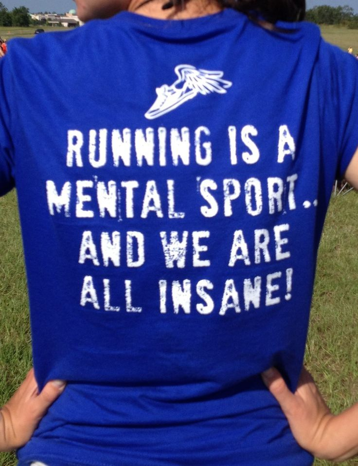 "So true! Especially after running my marathon today--you gotta be crazy to run this much for ""fun""!!"