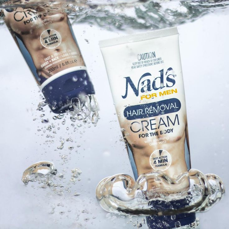 On in a jiff, off with a splash 💦 Nad's For Men Hair