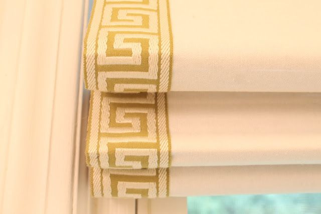 Green Street: DIY: Greek Key Roman Shade.