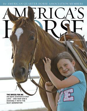 July 2013 America's Horse magazine cover, Maddyson Matsler and Lenas Fillynic, photo by Tara Matsler