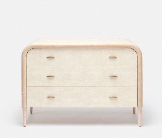 We're always swooning over  Made Goods shagreen dressers, side tables, mirrors and lighting that can give any space a fresh new feel.    - ELLEDecor.com