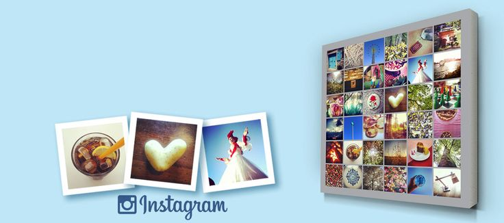 Collage van Instagram foto's