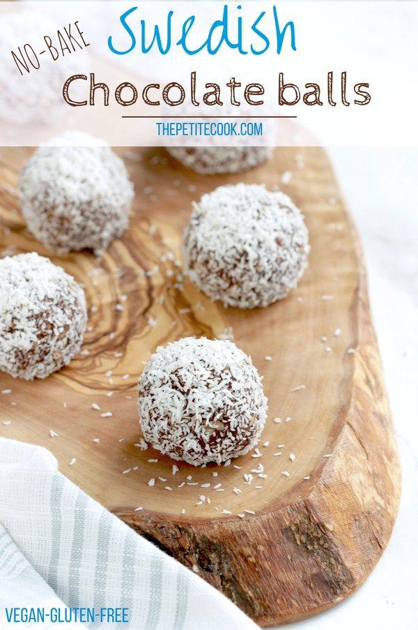 Swedish Chocolate Balls - Ready in 15 min - Naturally raw, gluten-free, dairy-free and vegan. Everyone can enjoy them! thepetitecook.com