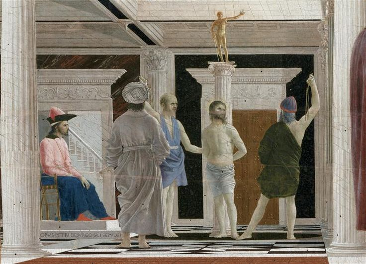 Piero della Francesca | The Flagellation of Christ (detail), c.1464