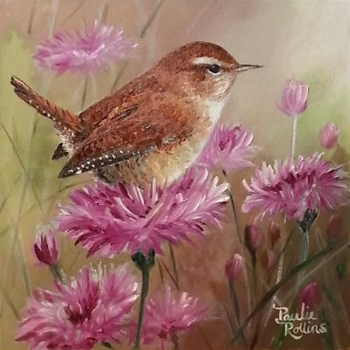 Wobbly Perches - Original Fine Art for Sale - � by Paulie Rollins