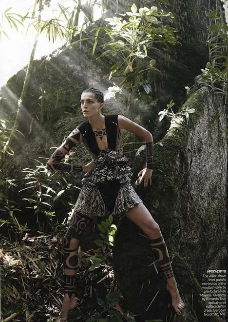 Alpha-Female Fashiontography - Daria Werbowy Takes on Nature in 'The Warrior Way' (GALLERY)