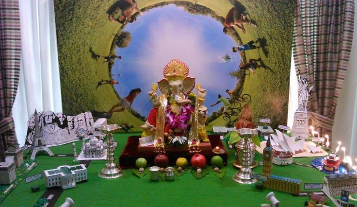 Decoration Ideas At Home For Ganpati Ganpati Decoration Ideas Pinterest Ideas Home And Ganesh