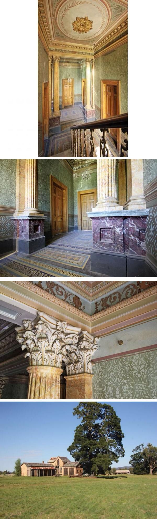 Abandoned Mansion Mintaro Near Romsey In Victoria The Spectacular Entrance Hall