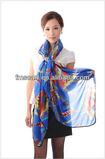 2014 spring lady's printed colorful silk square polyester scarf, View square polyester scarf, Product Details from Changsha Follow Me Fashio...