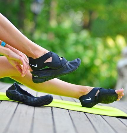 Genius 3-part shoe system from Nike: Perfect for Barre, Pilates, or Yoga class!