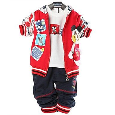 Boys Three-Piece Hoodie, T-Shirt, Trousers Red. Only at www.pandadeals.co.uk
