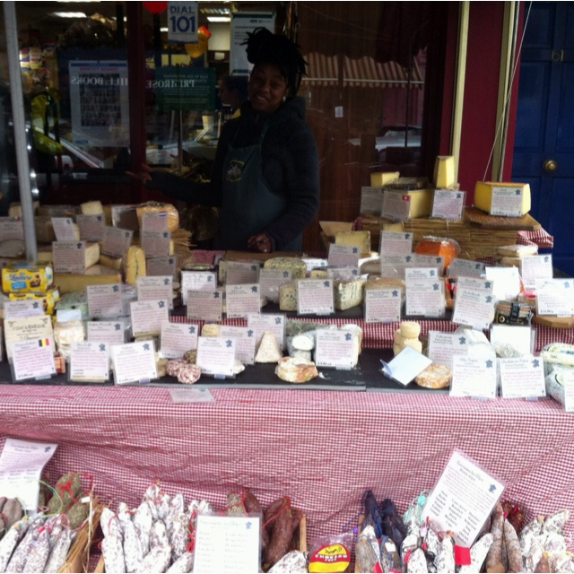 Fantastic cheese market in Pinner, London... really eclectic collection of cheeses and very helpful, knowledgeable staff.
