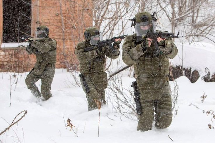 Russian FSB Operators In Heavy FORT Gear