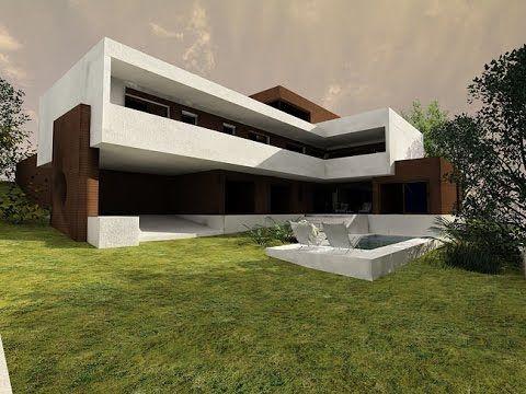Modern Minimalist House Design with basement CA01