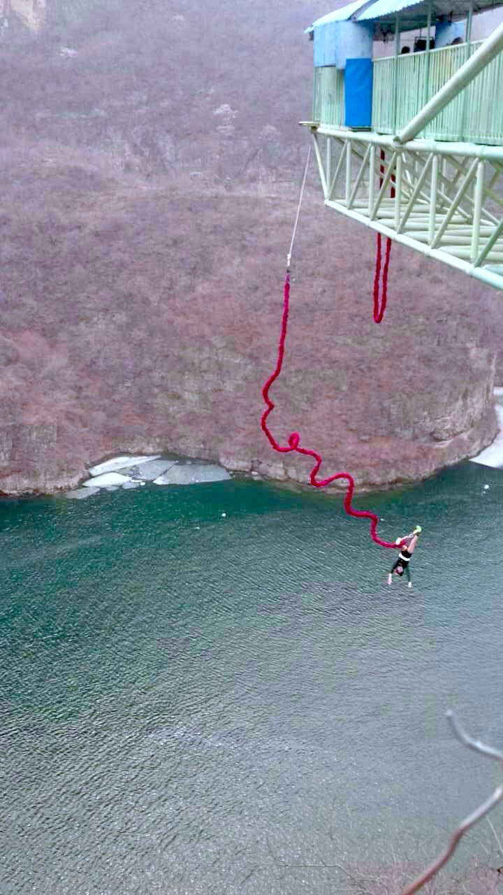 Bungee Jumping at Longqing Gorge, Beijing, #China