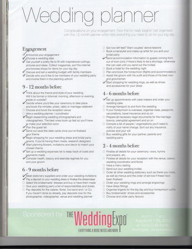 17 best images about wedding planning on pinterest virginia wedding planner checklist pg 1 wedding sa mag sciox Gallery
