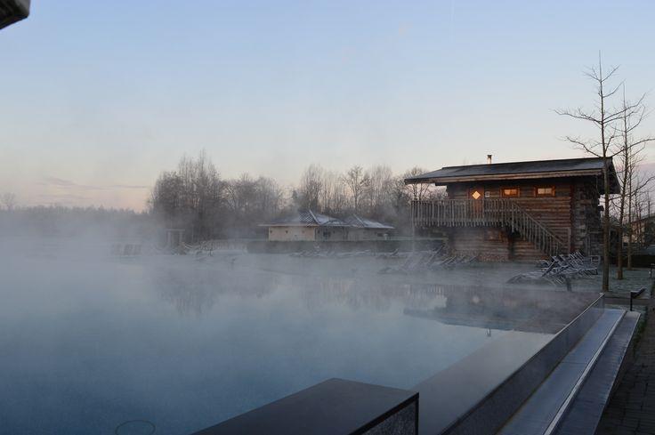 Koude lucht.. warm water, ontspannen bij de Veluwse Bron in Emst .