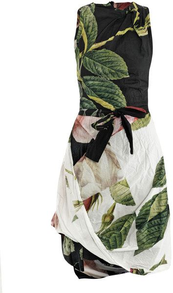 Vivienne Westwood Anglomania Multicolor Rosepuzzle Print Dress