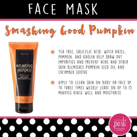 Perfectly Posh Smashing Good Pumpkin Review- get rid of acne! Best product I've seen to help it!