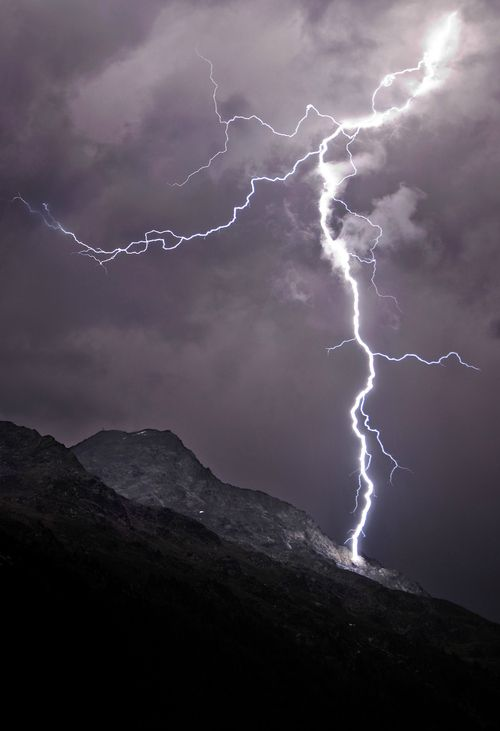 lightning on the mountain