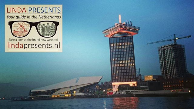 Adam tower seen from the ferry back to Amsterdam Centraal Station. Next to the #adamlookout you see the #eyefilmmuseum. Good places to sit down for a drink and enjoy the view!  WWW.LINDAPRESENTS.NL  #amsterdam #ideas #todo #thingstosee #adamtower #360 #view #drinks #theotherside #centralstation #ferry #totheotherside #iamsterdam #yourlocalguide #amsterdamguide