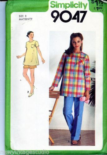 Simplicity-9047-1979-Misses-Classic-Maternity-Top-Pants-Shorts-Size-8-FF