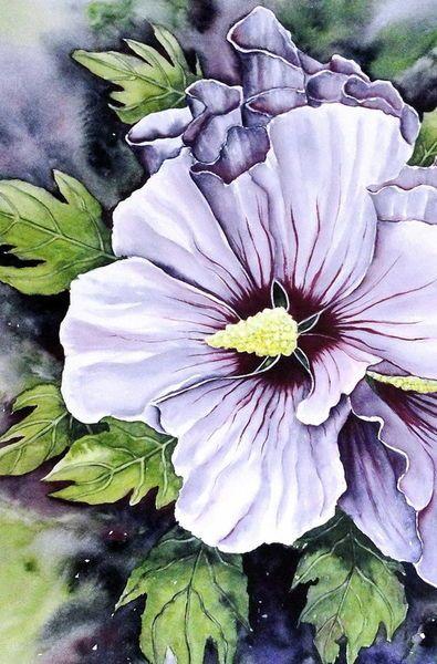 Watercolor 'Hibiscus syriacus 3' von Maria Inhoven bei artflakes.com als Poster oder Kunstdruck $18.03