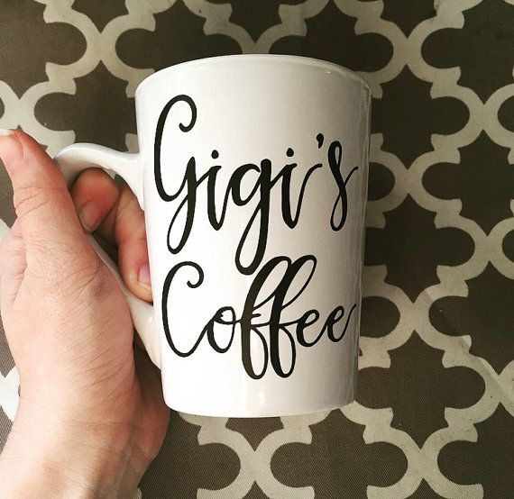 Gigi's Coffee // Grandma Mug // White Coffee Mug by cmorrisdesigns