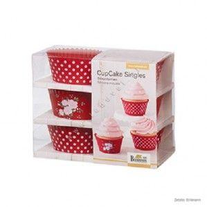 Foremki do cupcake - Birkmann - LA VIE EN ROSE 6szt.