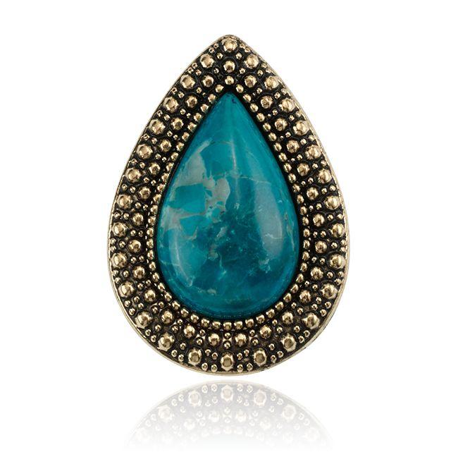 SAMANTHA WILLS - BOHEMIAN BARDOT RING - AZURE BLUE