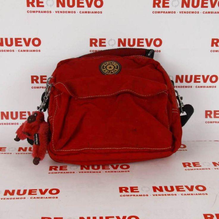 #Bolso KIPLING rojo E270195 de segunda mano#segunda mano#