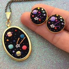 I only have 2 of those space necklace (before holidays arrival guarantee) until late november-december!! Those gone really fast, i'll restock more of these i promise. Also a little reminder, if you're going to purchase something from my shop as a...