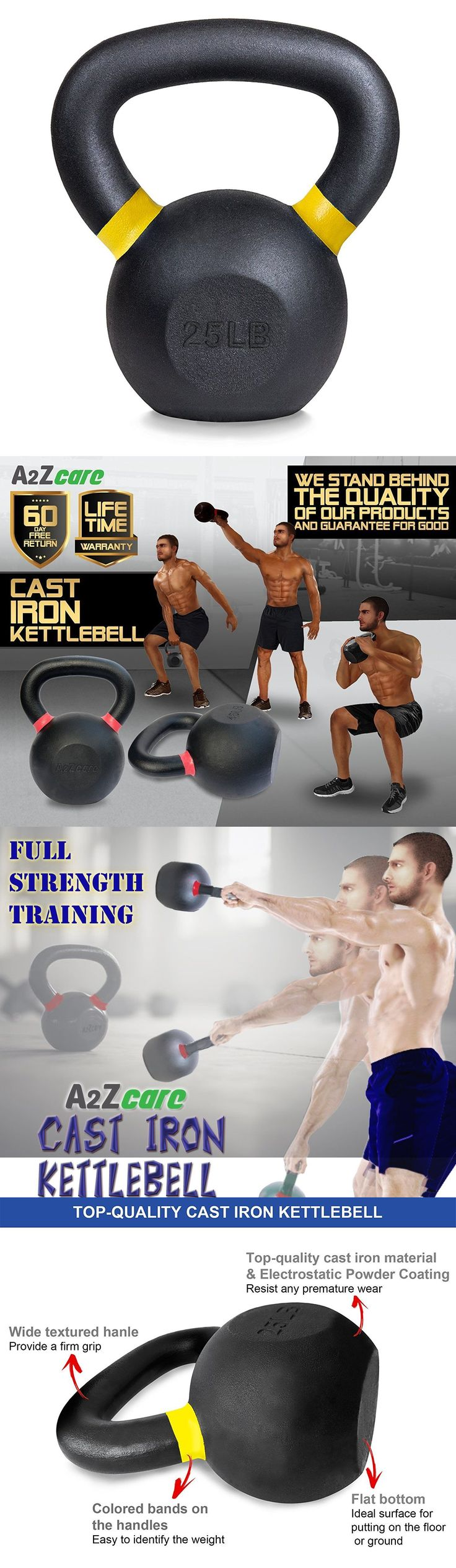 Kettlebells 179814: A2zcare Cast Iron Kettlebell Weights For Swing, Squats And Exercise Workout 25 Lbs -> BUY IT NOW ONLY: $59.58 on eBay!  https://www.kettlebellmaniac.com/shop/