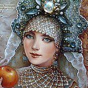 """Украшения ручной работы. Ярмарка Мастеров - ручная работа Кулон """"Боярышня с яблоком"""". Handmade."""