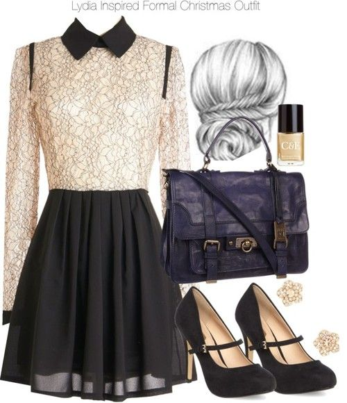 Mel by Melissa lace dress / Dorothy Perkins mary jane shoes / Satchel handbag / Charlotte Russe rhinestone earrings / Crabtree Evelyn nail