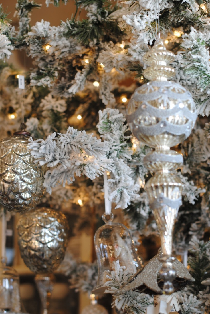 187 Best Christmas In Silver Images On Pinterest Christmas Decor Christmas Time And Merry