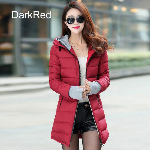 Warm Winter Jackets Women Fashion Down Cotton Parkas Casual Hooded Long Coat Thickening Parka Zipper Cotton Slim Isn`t it awesome? Visit us
