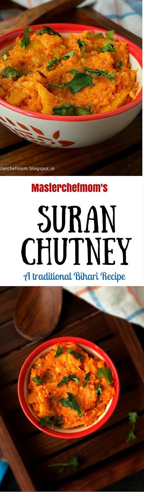 MASTERCHEFMOM: Bihari Suran Chutney | Bihari Ole/Oal Chutney |Bihar Style Elephant Yam Chutney | Jimmikand Chutney |Traditional Chutney Recipe | Gluten Free and Vegan Recipe