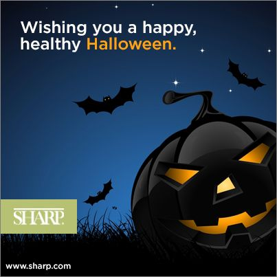 Sharp HealthCare wishes you a happy, healthy Halloween. #sharphealthcare #halloween #candy