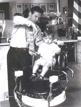 Vintage. the first haircut (my Papa tony was a barber & had his own shop... reminds me of him <3 )